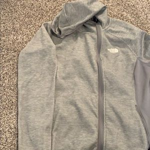 North face Gray zip up hoodie